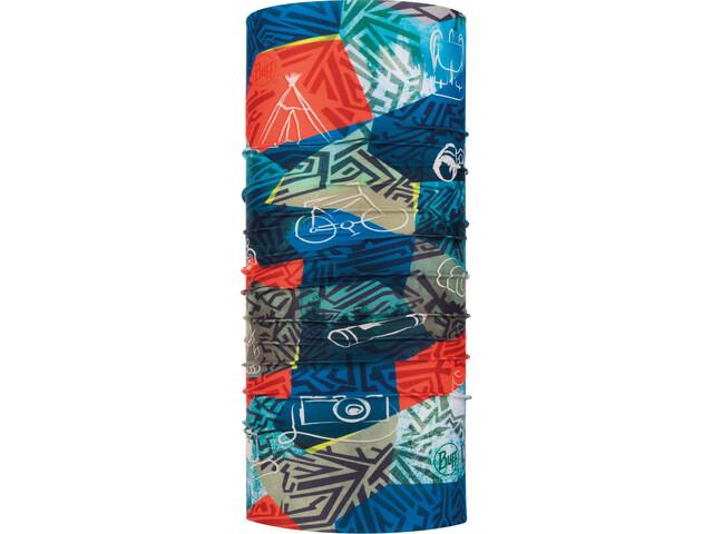 Buff Coolnet UV+ Neckwear Children red/blue
